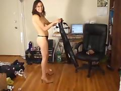 Bound and gagged drooling leather leggings hottie tube porn video