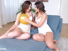 Balloon babes by Sapphic Erotica - sensual lesbian scene tube porn video