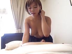 Short-haired girlfriend would like to take cock into her Asian cunt tube porn video