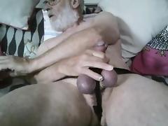 Grandpa stroke and cum on cam tube porn video
