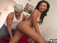 Shaved pussy is his favorite kind to fuck and hers is very nice tube porn video