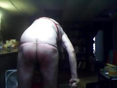 Sissy Whipping Boy takes 100 Birthday Spanks for Her tube porn video