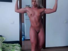 Muscular Blonde Flex tube porn video