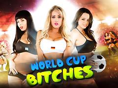 Anissa Kate, Capri Cavanni, Jamie Stone & Ryan Driller  in World Cup Bitches tube porn video