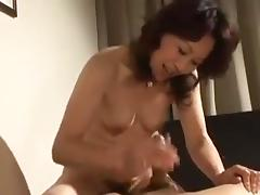 Japanese Mature Gets Creampied tube porn video