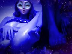 Cute Blue Alien Wet Pussy Fuck Machine tube porn video