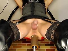 Getting machine fucked 2 tube porn video