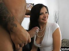 Bombastic housewife Victoria can't wait to take the fat cock into anus tube porn video