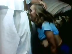 Classic Scenes - Little Oral Annie deepthroats Ron Jeremy tube porn video
