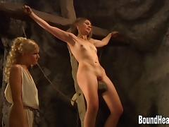 Busty Mistress Masturbating In Bath And Slave Gets Whipped tube porn video