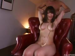 Rena's eyes are blindfolded and her cunny attacked with sex toys tube porn video