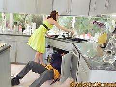 Housewife BBC stuffed in interracial trio tube porn video