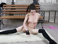 Ariella is one of those hotties who like stretching out totally naked! tube porn video