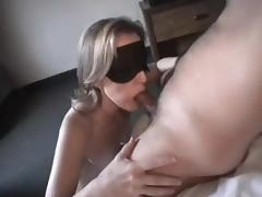 some guys wife sucking cock blindfolded tube porn video