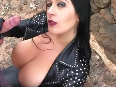 Leather Biker Girl Blowjob tube porn video