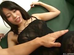 Japanese girl receives the vibrations as well as the rock-solid dick tube porn video