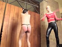 Caning by hot mistress - expose your ass, slave! tube porn video