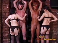 Sexy Asian dominas make two studs wildest fantasies come tube porn video