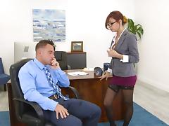 Jade's favorite spot for the pussy screwing is the office table! tube porn video