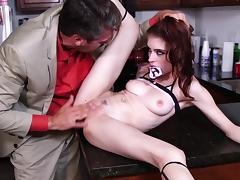 Intense kitchen anal hardcore with daddy by Anna De Ville tube porn video