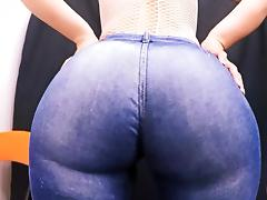 Most Perfect Round Ass In Tight Jeans! Huge Ass Tiny Waist! tube porn video
