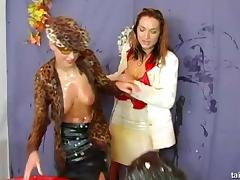 Nasty ladies have a fun time while playing with fresh eggs tube porn video
