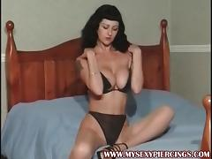 My Sexy Piercings Busty MILF with pierced pussy and nipples tube porn video