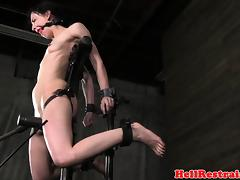 Chained sub toyed during roughsex by maledom tube porn video
