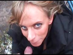 Geile Oesterreicherin blaest und pisst draussen! tube porn video