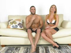 Big-busted Britney Amber has her belly and cunt creamed tube porn video