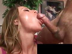 Busty brunette gets her muff licked before hunk bangs her tube porn video