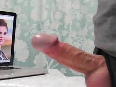 Jerking to Selena Gomez in the Bathroom tube porn video