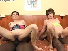 Granny anal BBC orgy tube porn video
