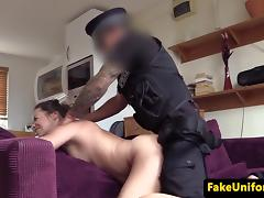 Cheating wife analfucked by fake british cop tube porn video