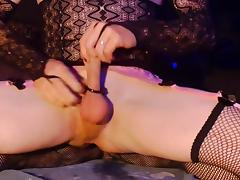 Crossdresser training ass tube porn video