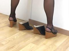 In Nylons tube porn video