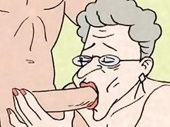 Comic - hot Grandma is horny tube porn video