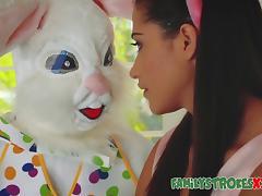 Easter Bunny Fucks Horny Teen tube porn video