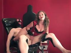 slaver handjob intercrural sex and assjob in pvc tube porn video