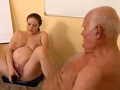 Grandpa fucks pregnant girl tube porn video