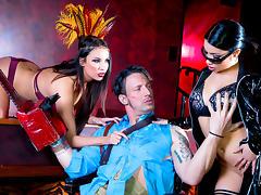 Anissa Kate & Rina Ellis & Luke Hardy in Rina Ellis Saves The World: A XXX 90s Parody, Episode 4 - DigitalPlayground tube porn video