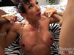 Nude Female Bodybuilder Takes Two Loads and Loves It tube porn video