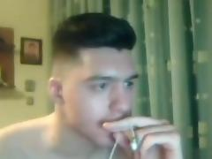 Greek handsome boy with big cock round ass on cam tube porn video