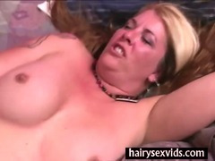 Hairy blonde twat fucking tube porn video