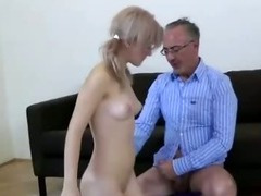 Slut in boots fucked by older British guy tube porn video