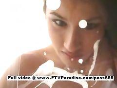 Janelle tender gorgeous babe milking tube porn video