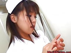 Bunko Kanazawa Sexy Asian nurse teaches tube porn video