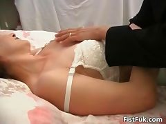 Two horny lesbians are playing tube porn video