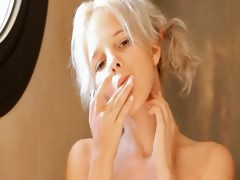 Shaving of beautiful 21yo blonde pussy tube porn video