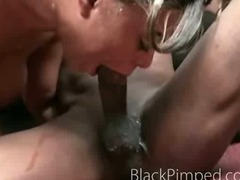 Wow this ghetto sex is very mean as the chick gets pounded hard by a pimp tube porn video